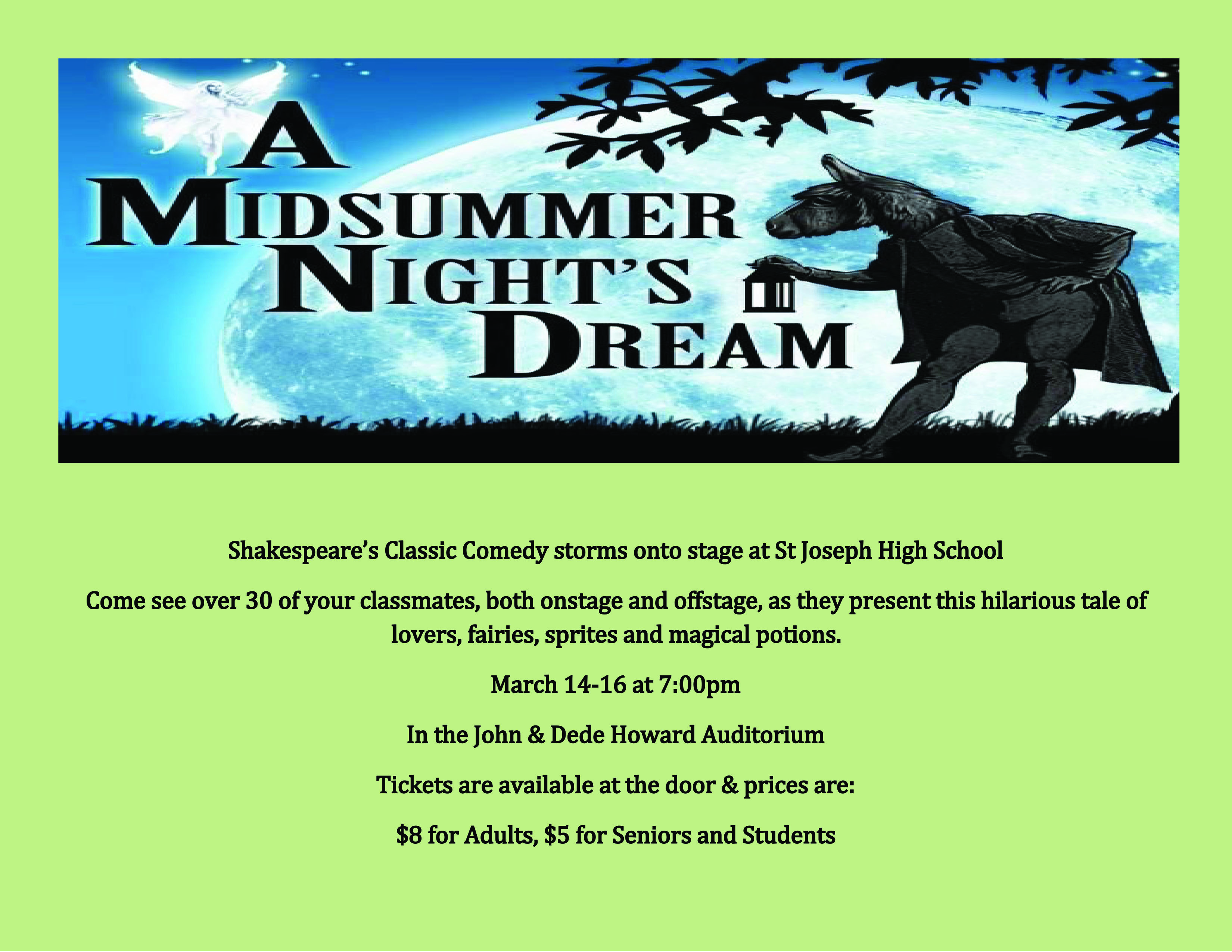 Midsummer Nights Dream School poster 2 3